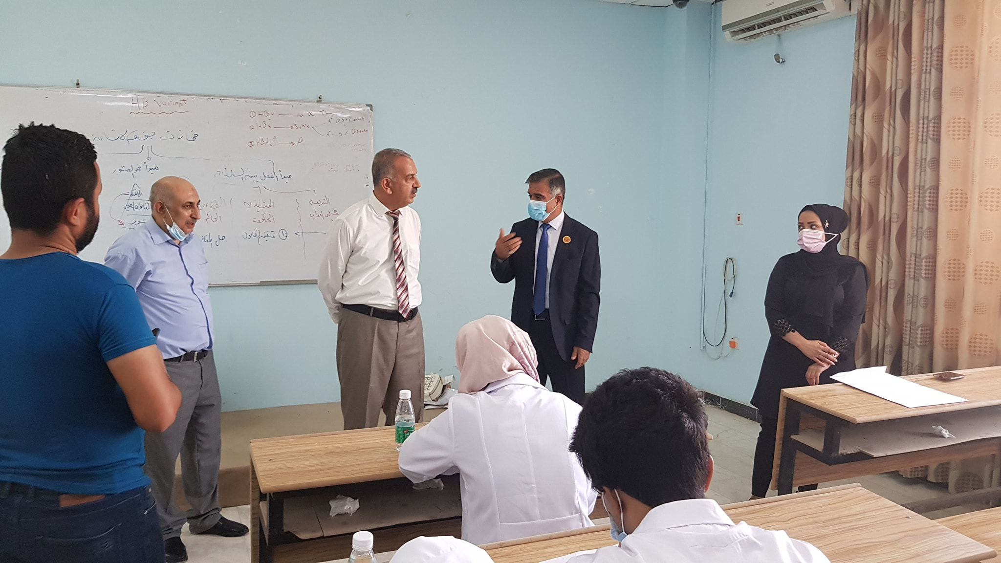The President of the Southern Technical University checks the functioning of the final attendance exam for elementary students in the Faculty of Health and Medical Technologies.